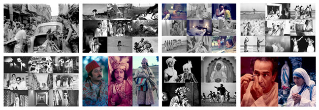 Collage of Nemai Ghosh Photographs at India Art Summit 2009